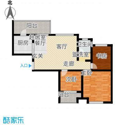 龙天名俊105.00㎡2、4号楼D面积10500m户型