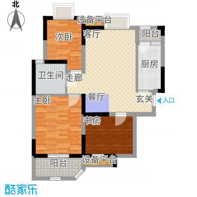 华鑫学府城88.63㎡A1面积8863m户型