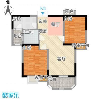 华鑫学府城87.00㎡E面积8700m户型