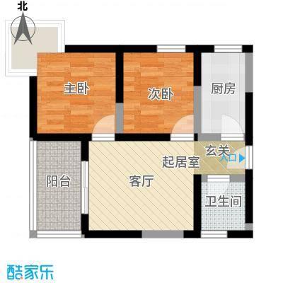 盛世一品59.25㎡1/2#楼A标准面积5925m户型