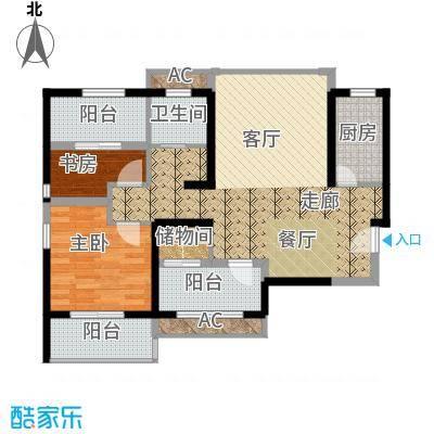枫韵润园93.72㎡A标准层户面积9372m户型
