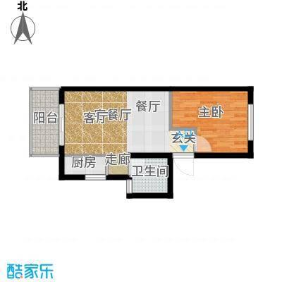 凯悦华庭58.00㎡面积5800m户型
