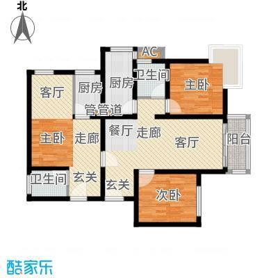 雅荷智能家园123.00㎡面积12300m户型