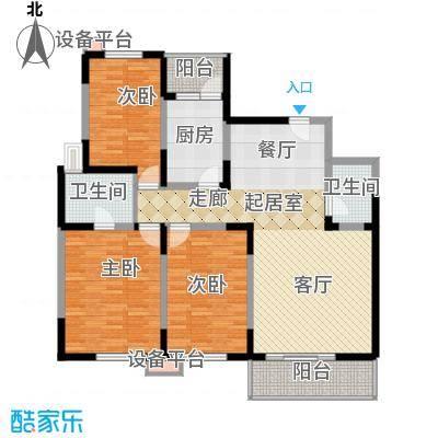高科新花园116.64㎡3-6号楼E面积11664m户型