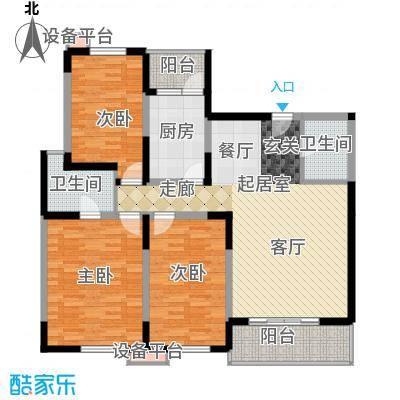 高科新花园115.02㎡3-6号楼A面积11502m户型