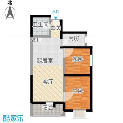 海天华庭89.23㎡8号楼C2面积8923m户型