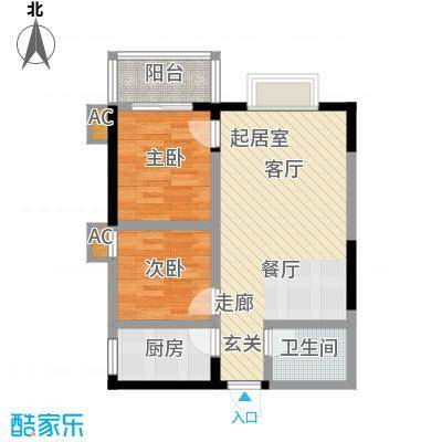 新兴骏景园75.00㎡面积7500m户型
