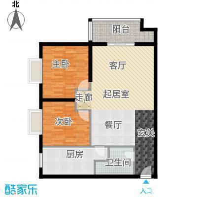 雅苑东方92.00㎡1、2号楼D面积9200m户型