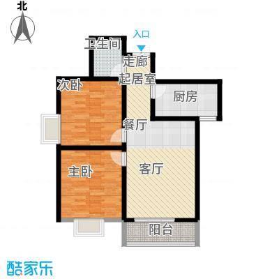尚品格蓝93.00㎡面积9300m户型
