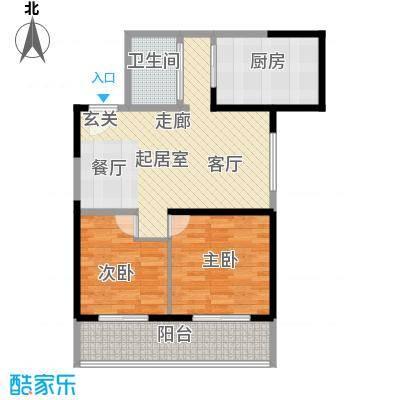 华龙佳园92.48㎡面积9248m户型