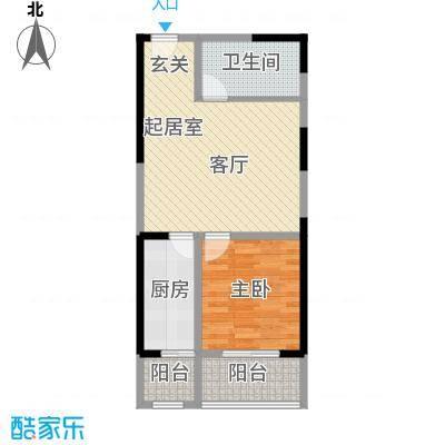 华龙佳园69.04㎡面积6904m户型