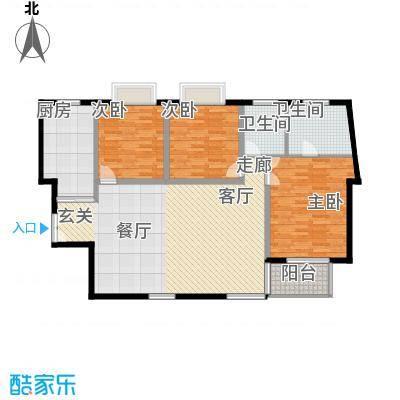 枫韵蓝湾120.29㎡面积12029m户型