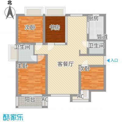 天朗大兴郡二期瀚苑131.00㎡H面积13100m户型