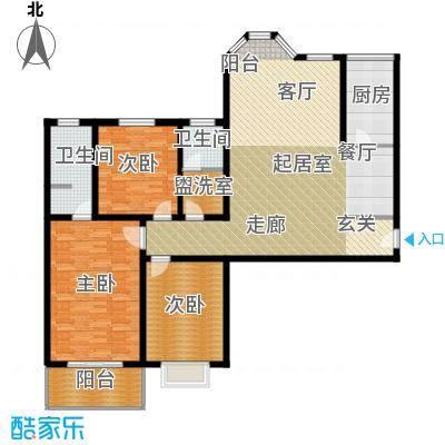 香樟园149.90㎡2#楼标准层K面积14990m户型
