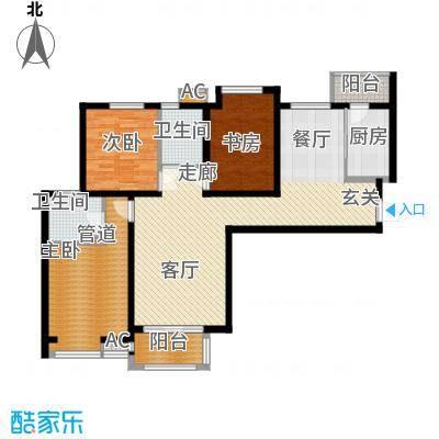 宏林名苑127.00㎡面积12700m户型