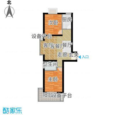 江林新城98.33㎡三期7号楼D2面积9833m户型