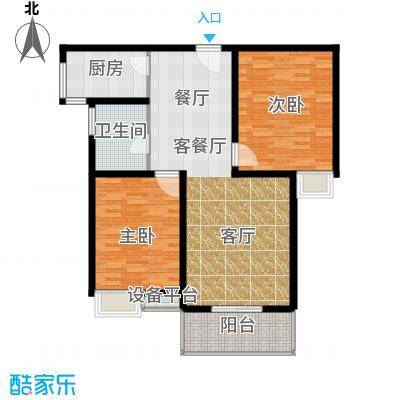 江林新城99.50㎡3#E面积9950m户型