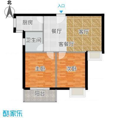 江林新城98.80㎡4#楼面积9880m户型