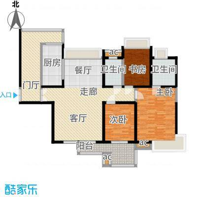 中海华庭148.00㎡面积14800m户型