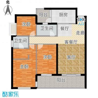 鑫龙天然居121.00㎡D3面积12100m户型