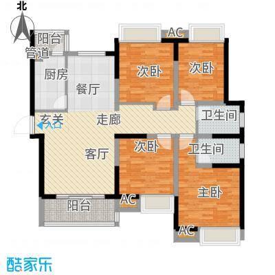 雅荷智能家园139.00㎡面积13900m户型