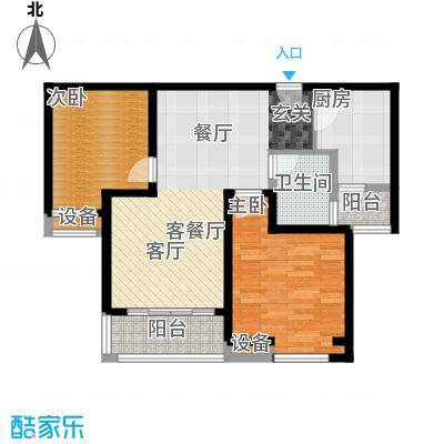 中海曲江碧林湾87.00㎡7号楼052面积8700m户型