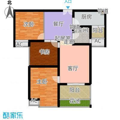 曲江观邸105.48㎡30#B(售罄面积10548m户型