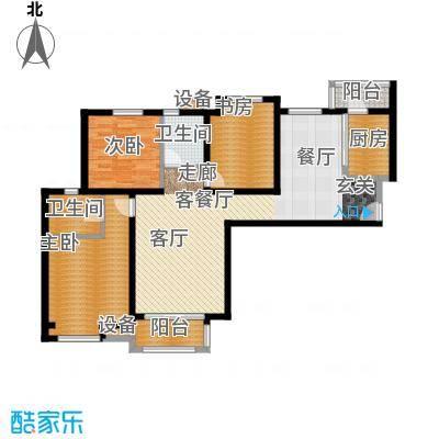 中海曲江碧林湾127.00㎡7号楼052面积12700m户型