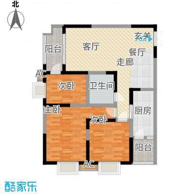 中闻传媒广场113.50㎡1#/2#/3#B户型