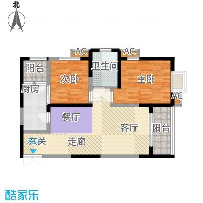 中闻传媒广场90.79㎡1#/2#/3#E户型