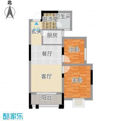 景寓学府87.04㎡西区2#/6#楼户型