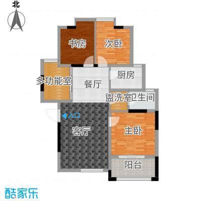 景寓学府114.46㎡西区2#/6#楼户型