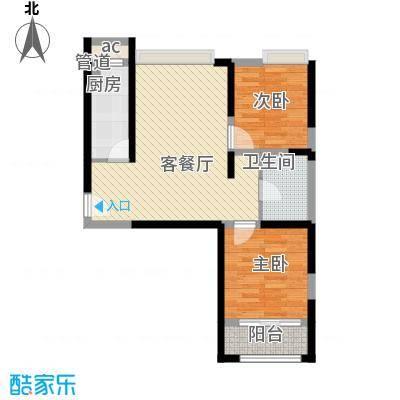 浩华香颂国际城84.05㎡D3户型