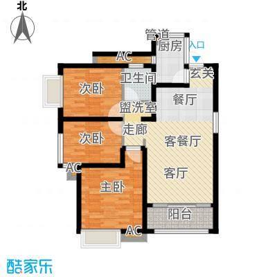 南飞鸿天锦89.00㎡7号楼B户型