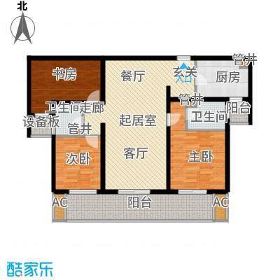 中海御湖公馆125.00㎡3A面积12500m户型