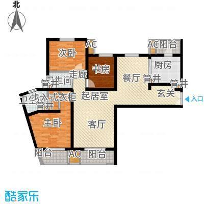 中海御湖公馆133.00㎡3B面积13300m户型
