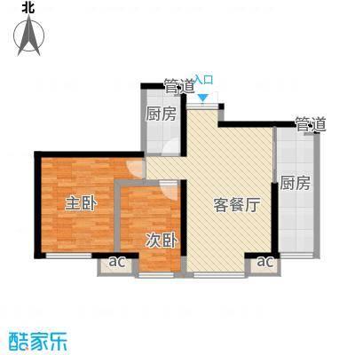 华远君城90.00㎡五期15#楼C5面积9000m户型