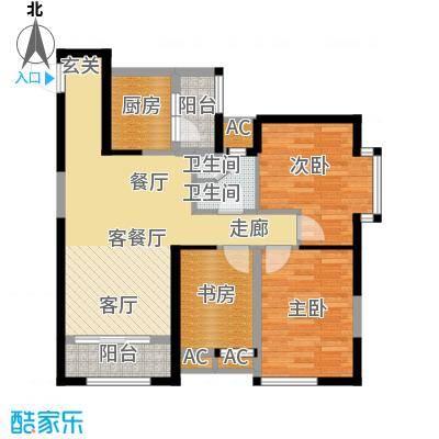 华城万象95.54㎡5#E4面积9554m户型