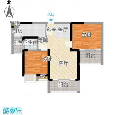 安鸿景苑79.00㎡户型