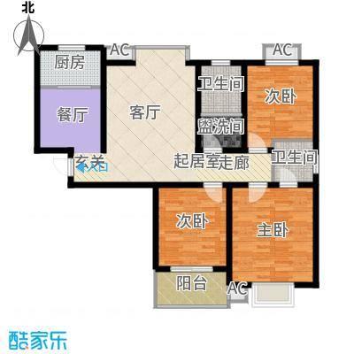 盛泰豪庭114.32㎡1号楼/3号楼H户型