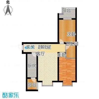 辰龙香树湾84.75㎡辰龙・香树湾12号楼户型