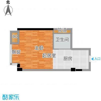 天坛佳苑(地块)48.14㎡天坛佳苑公寓1#D/05户型