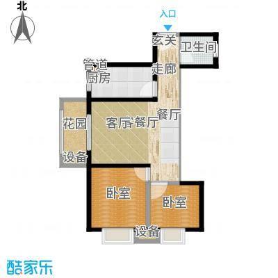 西纺逸品园81.30㎡西纺・逸品园1号楼C户型