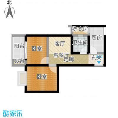 西纺逸品园65.50㎡西纺・逸品园1号楼D户型