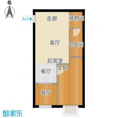 辰龙香树湾51.64㎡辰龙・香树湾13号楼A4户型
