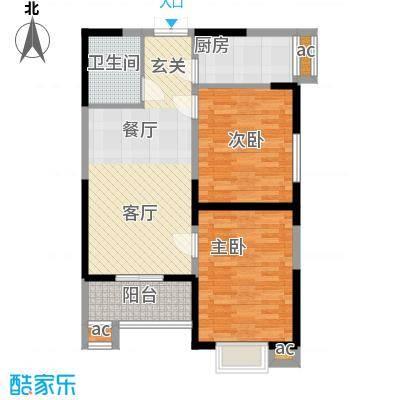 天坛佳苑(地块)88.23㎡天坛佳苑公寓1#B2/03户型