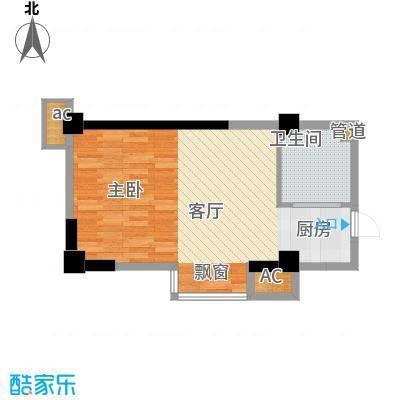 天坛佳苑(地块)52.54㎡天坛佳苑公寓1#E户型