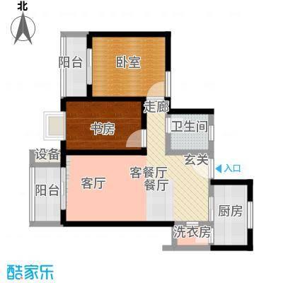 西纺逸品园88.50㎡西纺・逸品园1号楼E户型