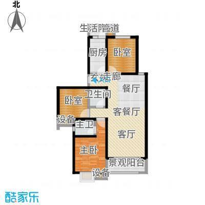西纺逸品园123.26㎡西纺・逸品园1号楼A户型