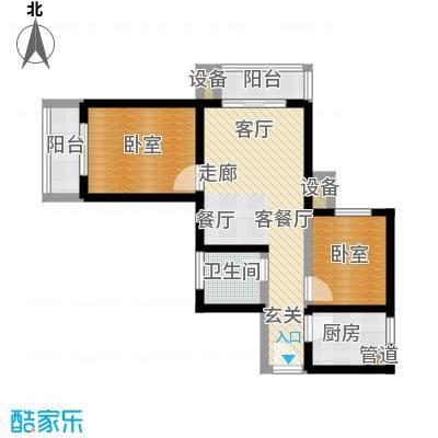 西纺逸品园78.90㎡西纺・逸品园1号楼F户型
